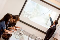 Business presentation Stock Images
