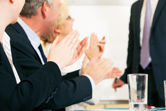 Business presentation applause Stock Photo