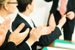 Business presentation applause Stock Image