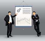 Business presentation board with business people Stock Image