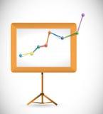 Business presentation board illustration Royalty Free Stock Photos