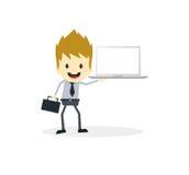 Business presentation cartoon character Stock Photos