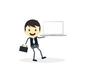 Business presentation cartoon character Stock Images
