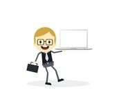 Business presentation cartoon character Royalty Free Stock Images