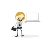 Business presentation cartoon character Royalty Free Stock Photo