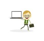 Business presentation cartoon character Royalty Free Stock Photography