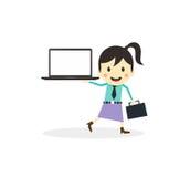 Business presentation cartoon character Royalty Free Stock Photo
