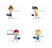 Business presentation cartoon character Stock Photography