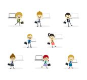 Business presentation cartoon character Royalty Free Stock Photos