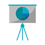 Business presentation chart finance board. Vector illustration eps 10 Royalty Free Stock Image