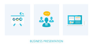 Business presentation concept icon set Royalty Free Stock Photography
