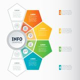 Business presentation concept with 4 options. Vector infographic. Of technology or education process with 4 parts. Web Template of a info graphics, chart Royalty Free Stock Image