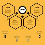Business presentation concept with 4 options. Web Template of a. Sales pipeline, purchase funnel, info chart or diagram. Vector infographic of technology or Stock Image