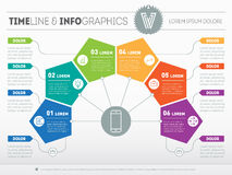 Business presentation concept with six options. Web Template of royalty free illustration