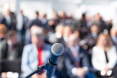 Business presentation or corporate conference royalty free stock images