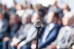 Business presentation or corporate conference royalty free stock photo