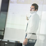 Business presentation on corporate meeting. Royalty Free Stock Photos
