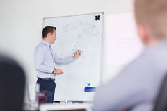 Business presentation on corporate meeting. Stock Photography