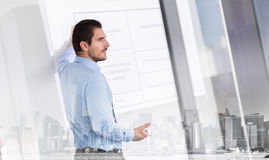 Business presentation on corporate meeting. Stock Images