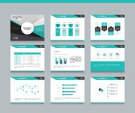 Business presentation design template background Stock Photography