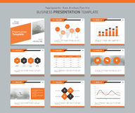 Business presentation design template background Royalty Free Stock Image