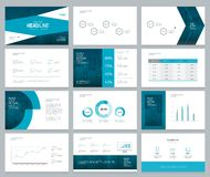 Business presentation design template and page layout with cover design Royalty Free Stock Photos