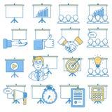 Business presentation icon set. Royalty Free Stock Image