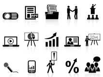 Business presentation icons set. Business presentation icons set on white background Stock Photo