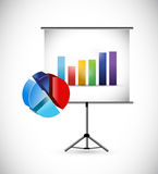 Business presentation illustration Royalty Free Stock Photography