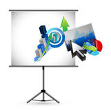 Business presentation illustration design Stock Photo