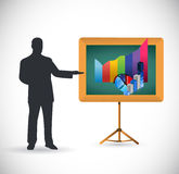 Business presentation illustration design Royalty Free Stock Photo