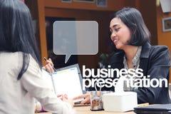 Business presentation illustration royalty free illustration