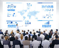 Business Presentation with an Infographic.  royalty free stock images