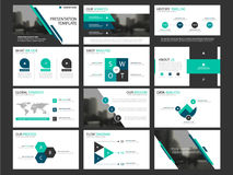 Business presentation infographic elements template set, annual report corporate horizontal brochure design royalty free illustration