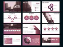 Business presentation infographic elements template set. Business presentation infographic elements template set, annual report corporate horizontal brochure Royalty Free Stock Images