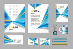 Business presentation infographic elements template set Royalty Free Stock Images