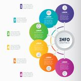 Business presentation or infographic examples with 6 options. Vector dynamic infographics or mind map of technology or education