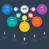 Business presentation or infographic with five options. Vector d Stock Image