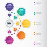 Business presentation or infographic with 5 options. Vector dyna Stock Photography