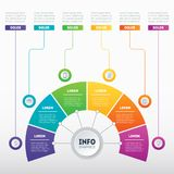 Business presentation or infographic with 6 options. Vector dyna Stock Photography