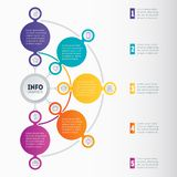 Business presentation or infographic with 5 options. Vector dynamic infographics or mind map of technology or education process. Web Template of a chart royalty free illustration
