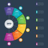 Business presentation or infographic with 6 options. Web Templat Royalty Free Stock Photo