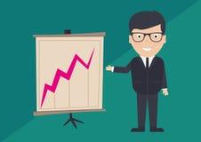 Business man presenting bar chart Stock Photo