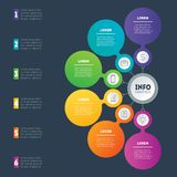 Business presentation or infographics concept with 6 options. Pa Royalty Free Stock Images