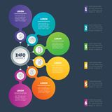 Business presentation or infographics concept with 6 options. Ve Stock Photography