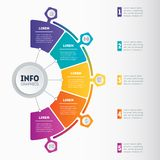 Business presentation or infographics concept with 5 options. We Stock Photo