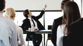 Business presentation stock video