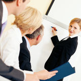 Business presentation in meeting Stock Photo