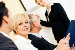 Business presentation in meeting Royalty Free Stock Image