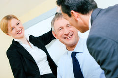 Business presentation in meeting Stock Images
